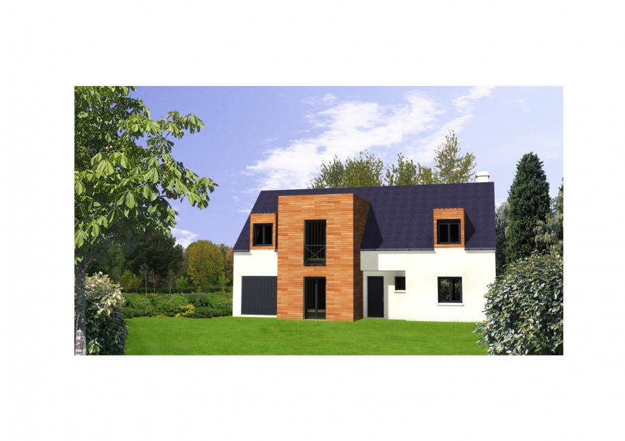 Modèle extérieur bois - Maison caen construction - Constructeur caen ...